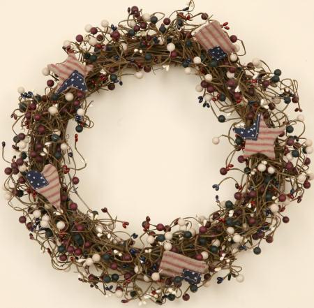 Americana Wreath-wreaths, americana,