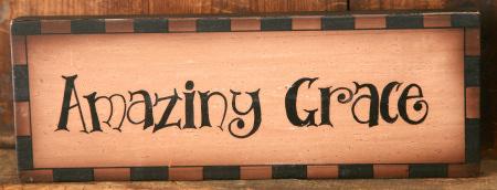 "Message Block - ""Amazing Grace"", Wood"