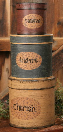 Nesting Boxes -  Believe, Inspire, Cherish-nesting boxes, shaker boxes