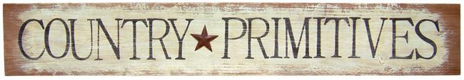 "Sign, Doorboard  - ""Country Primitives"" - Barn Wood"