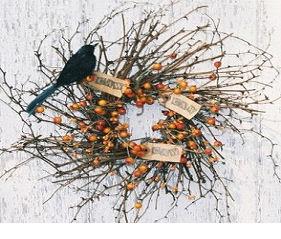 Crow Caw Wreath-wreath,twig wreath, crow wreath