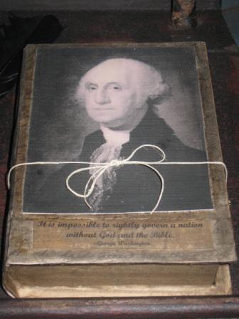 George Washington Paper Mache Book - Keeping Box