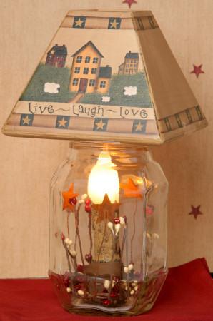 Live, Laugh, Love Collection - Electric Jar Light