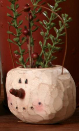 Ornament, Snowman - Head, Hanging