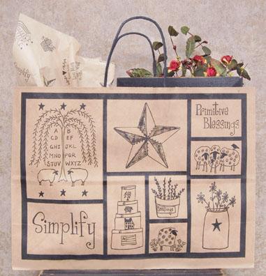 Primitive Blessings Kraft Bag, Large