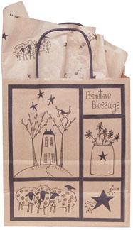 Primitive Blessings Kraft Bag, Medium