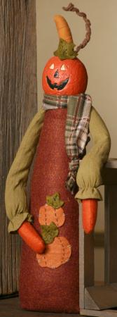 Pumpkin Pal, Sanded Body, Pumpkin Applique