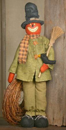 Pumpkin Pal, Standing w/Crow and Broom