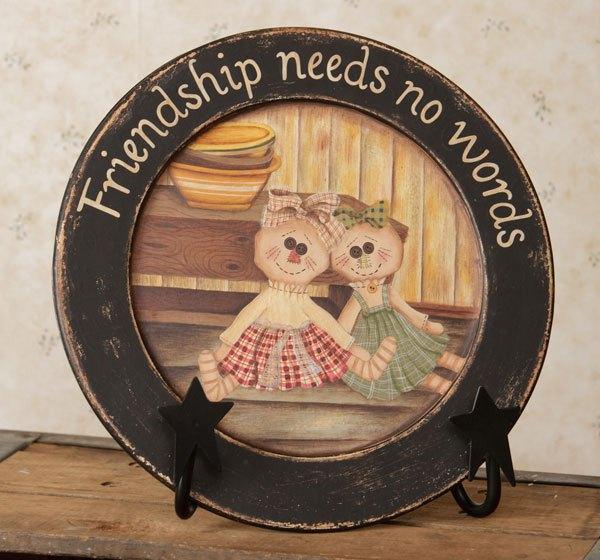"""Raggedy Friends"" . . . Wooden Plate"