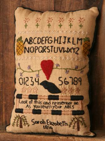 "Stitchery - ""Sarah Elizabeth 1816"" - Pillow Sampler"