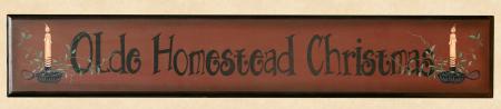 "Sign, Doorboard  - ""Olde Homestead Christmas"", Wood"