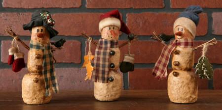 Snowmen - The Cozy Trio (Set of 3)