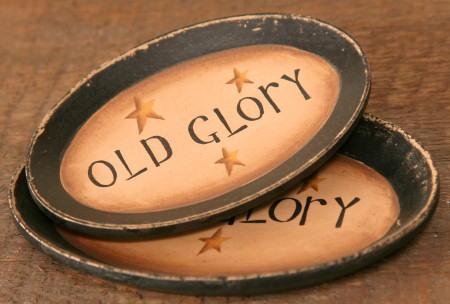 "Mini Plates - ""Old Glory"" - Set of 2"