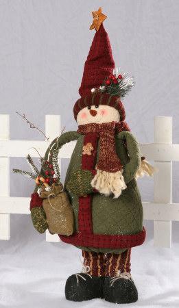 Snowman Folk - Standing, Tree Pouch