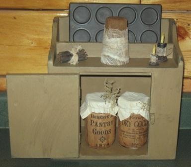 Primitive Spice/Candle Cubbie-cupboards, primitive, country, cabinets, spice cupboards, razor cabinet,